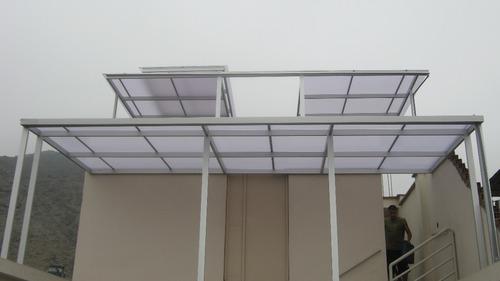 policarbonato techo corredizos, curvos, sol y sombra