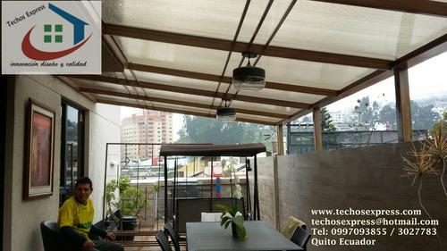 policarbonato techos corredizos pergola cubiertas estructura