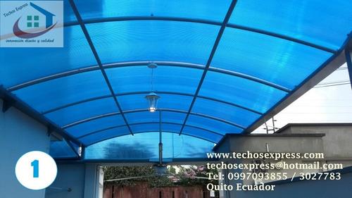 policarbonato techos cubiertas pergolas estructuras metalica