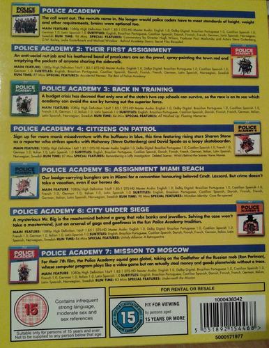 police academy la coleccion completa de peliculas blu-ray