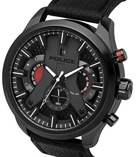 police men watch pl14639jsbu 02 cyclone 50 mm cronografo cor