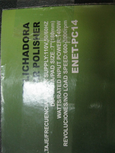 polichadora energytools 7   1400w 6 velocidades