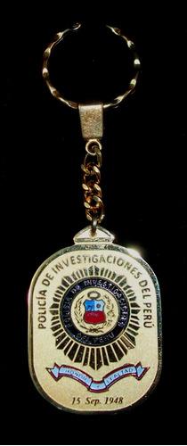 policía de investigaciones del perú, pip - llavero colección