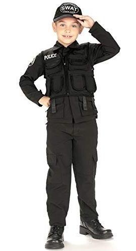 policia de swat para ninos heroes jovenes traje, medio