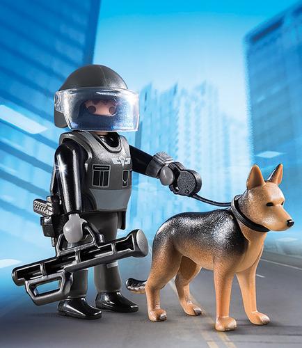policia especial con perro playmobil r5263