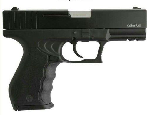 policia pistola glock salvas dispara balas caucho y gas pimi