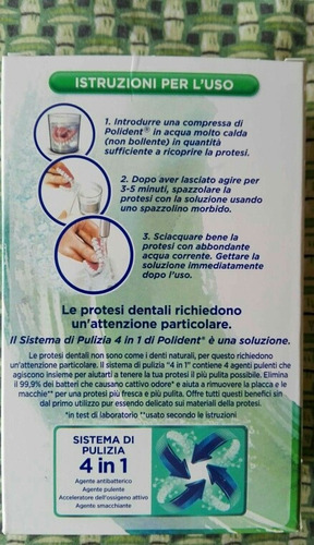 polident italia 66tabs desinfecta dentadura postiza t.corega