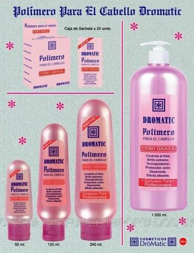 polímero para el cabello, varias presentaciones
