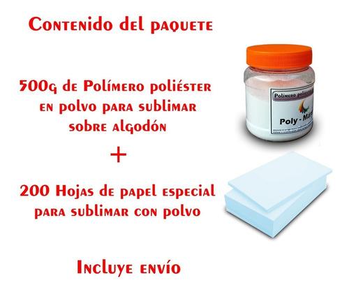 polímero para sublimar algodón polvo poliamida y hojas