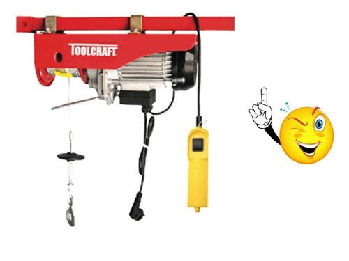 polipasto 200-400kg toolcraft tc3414 malacate
