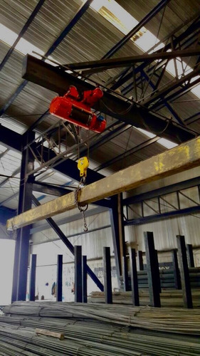 polipasto electrico con trolley 3 ton, 12 metros