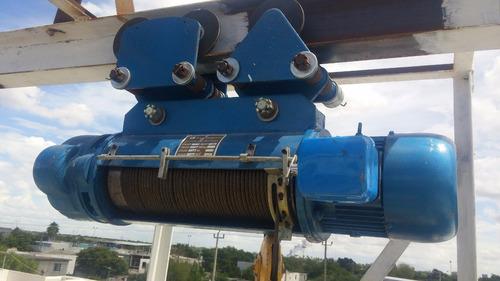 polipasto electrico de cable 1 tonelada 12 metros