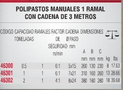 polipasto manual uso pesado urrea garrucha polea 46300