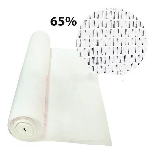 polisombra blanca 65% 10 metros x 4 de ancho.