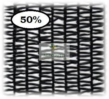 polisombra ( raschel) 50% negro rollo 4 metros x 100