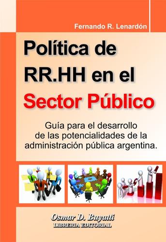 política de rr hh en el sector público - f. lenardón
