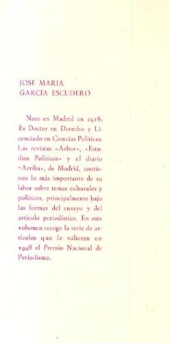 política española y política de balmes.