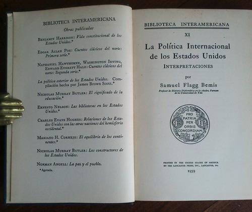política internacional de estados unidos. samuel flagg bemis
