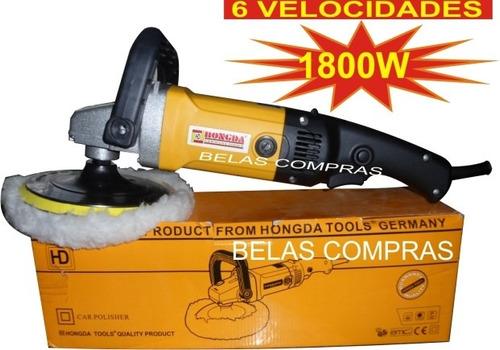 politriz profissional 1.800 w / 6 velocidades 110v