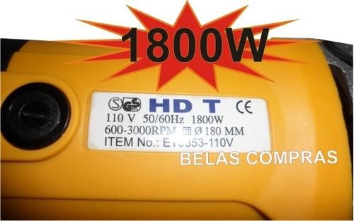 politriz profissional 1.800 w / 6 velocidades 220v
