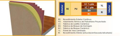 poliuretano proyectado alta densidad para losa radiante