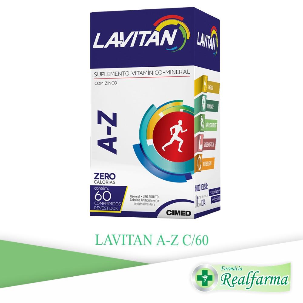 b7964cd9d0913 Polivitamínico Lavitan Az C 60 Cpr - Mais Energia
