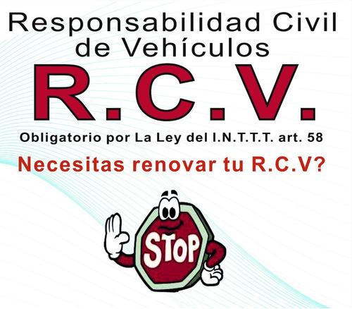 póliza de responsabilidad civil de vehículos seguros de rcv
