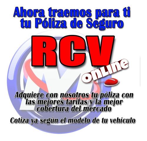 póliza de seguro rcv para todo tipo de vehículos y motos