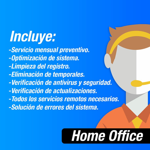 poliza de servicio home office 1 pc / 3 meses