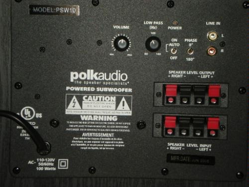 polk audio psw10 monitor powered subwoofer bafle 10 pul