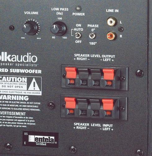 polk audio psw10 monitor powered subwoofer bafle 10 pul