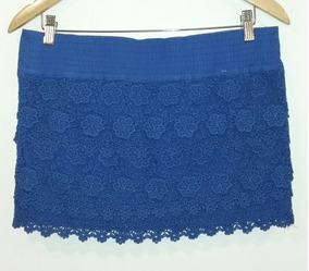 7e861bd8a Pollera Azul Francia Abercrombie & Fitch Talle L