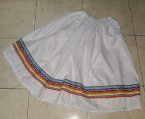 325638c5b Pollera Blanco Coya Carnavalito Disfraz De 40 A 70 Cms