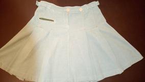 f4129f03a Faldas Tableadas Cortas - Polleras Corta de Mujer Azul claro en ...
