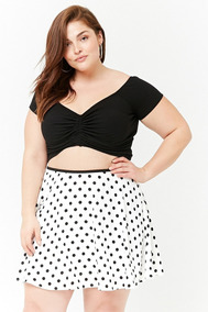 804c3ca68 Pollera Corta Lunares By Forever 21 Plus Size 2x