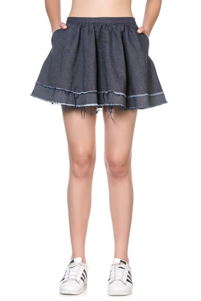 pollera corta tiro alto minifalda bar denim soifer oferta. Cargando zoom. 91cecd92e14e