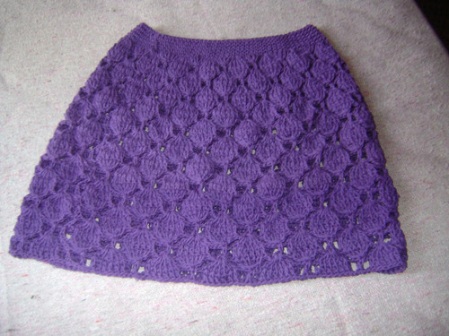pollera dama tejida al crochet