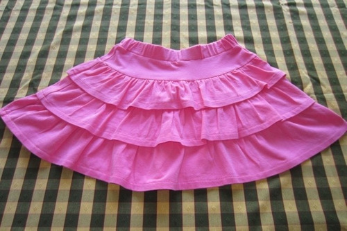 pollera de algodón con volados para nena, marca europea!!!