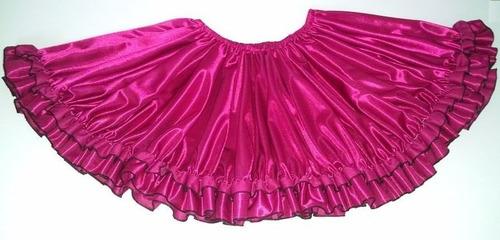 pollera doble plato real mujer disfraz baile danza española