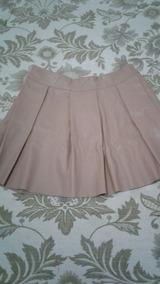 b241a579f Falda Plisada Cuero - Polleras Cortas de Mujer Rosa claro en Mercado ...