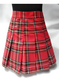 d83c8c817 Pollera Escocesa Rojo Tableada Tiro Alto