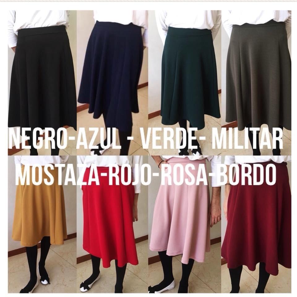 7a3d5785d Pollera Estampada De Mujer Dama Pique Colores Casa Andrea!!