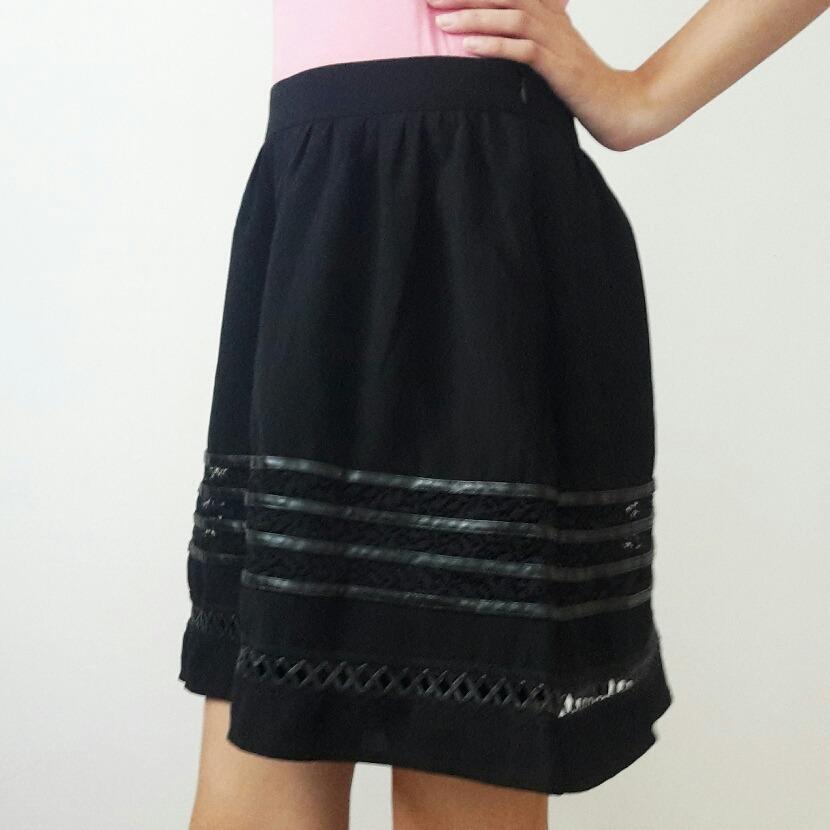 994e4f2e6d pollera falda de vestir semi-formal tela y cuero nueva mujer. Cargando zoom.