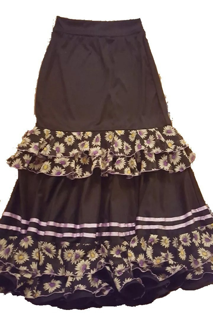 tiendas populares mayor selección de mejor valor Pollera Falda Flamenca Nva Talle 44/46 Con Pico Flores Nyv