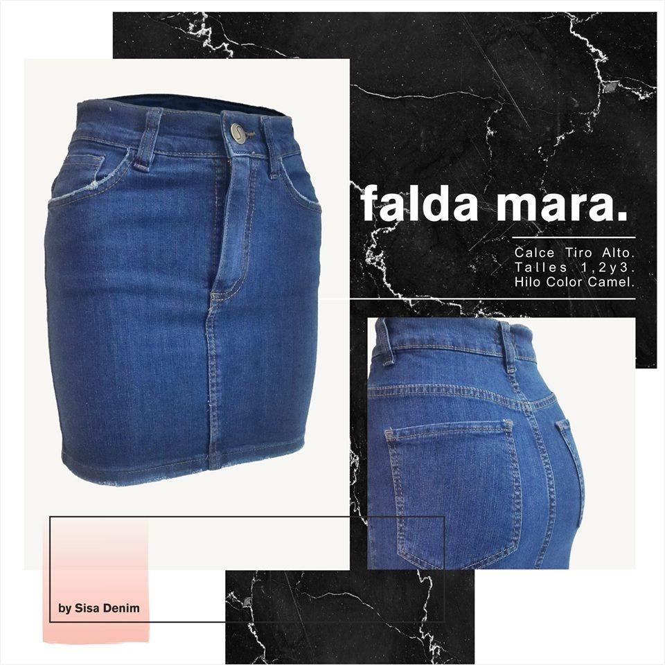 pollera falda jean sisa denim mara. Cargando zoom. 22a57793cf7b