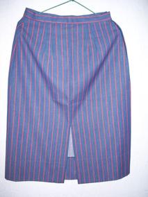 d125ea4c8 Faldas Con Tajos - Ropa y Accesorios de Mujer Azul marino en Mercado ...