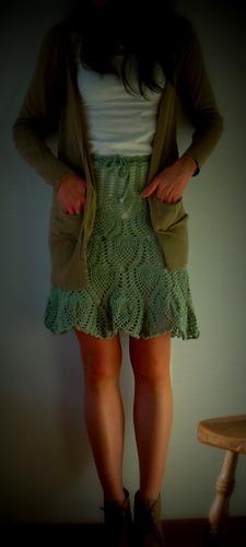 pollera - falda tejida a crochet