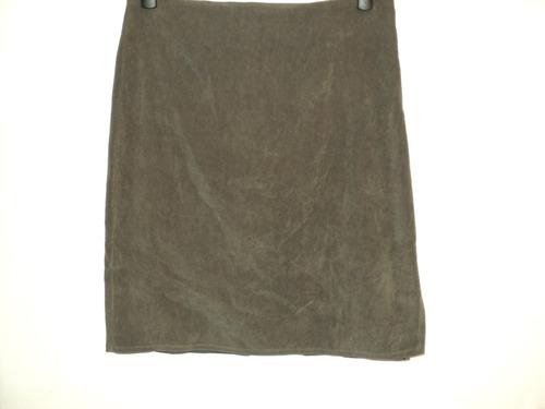 pollera falda terciopelo vestir oficina  talla 2 cint 72 cm