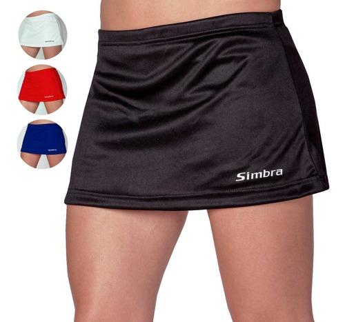 pollera hockey tenis con calza simbra mujeres femenina