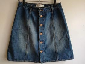 cc5b22685 Pollera Jeans Abotonada H&m Talle 36